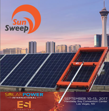 SunSweep brings solar panel cleaning solutions to SPI in Las Vegas, NV